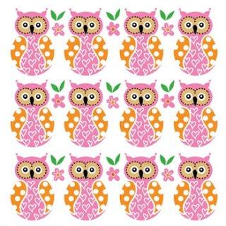 ペーパーナプキン(33)ppd:(5枚)Owl Family-PP108