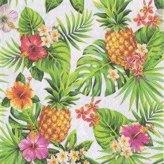 ペーパーナプキン(33)ti-flair:(5枚)Pineapples&Palmleaves-TI110