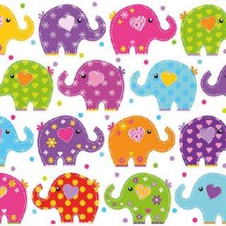 ペーパーナプキン(33)AMB:(5枚)Funny Elephants-AM496