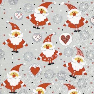 ペーパーナプキン(33)paper:(5枚)Funny Santas-PA277