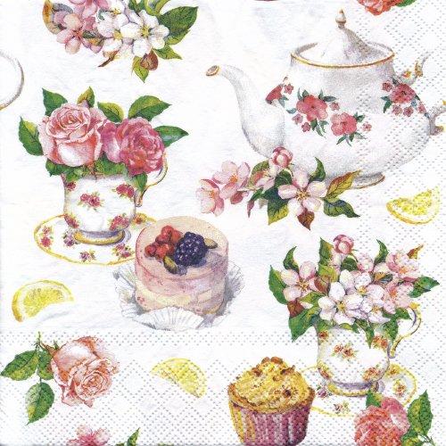 ペーパーナプキン(33)AMB:(5枚)Flower in Teacup-AM560