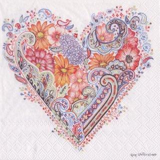 ペーパーナプキン(33)AMB:(5枚)SPRING HEART-AM567