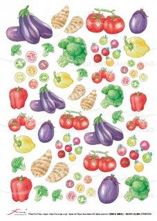 デコパージュ用アートペーパー「FUNE」ATNM03024 野菜(小)