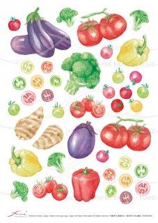 デコパージュ用アートペーパー「FUNE」ATNM03036 野菜(大)