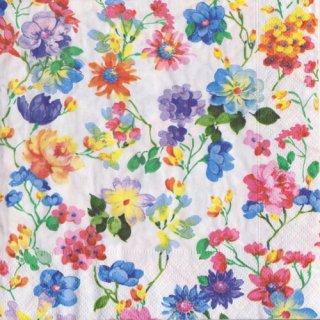 ペーパーナプキン(33)paper:(5枚)Bed of flowers-PA288
