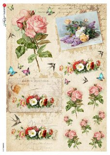 【A3】Paper Designs ライスペーパーFLOWERS_0332