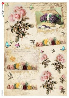 【A3】Paper Designs ライスペーパーFLOWERS_0333