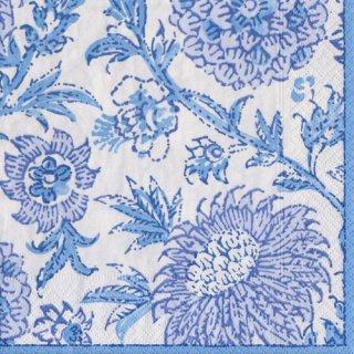 ペーパーナプキン(33)caspari:(5枚)Indiennes Blue-CA103