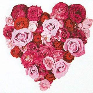 ペーパーナプキン(33)home:(5枚)Heart of Roses-HO207