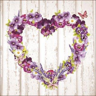 ペーパーナプキン(33)AMB:(5枚)Purple Heart-AM469