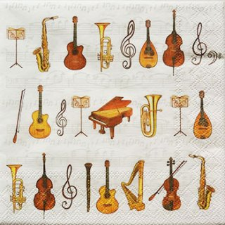 ペーパーナプキン(33)AMB:(5枚)オーケストラ-AM49