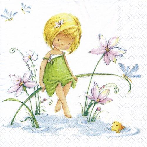 ペーパーナプキン(33)home:(5枚))Little Sister-HO124