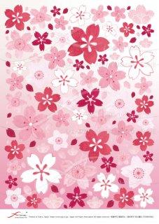 デコパージュ用アートペーパー「FUNE」ATNM03049 桜(紅白)