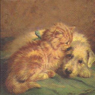 ペーパーナプキン(33)IHR:(5枚)DOG AND CAT-IH375