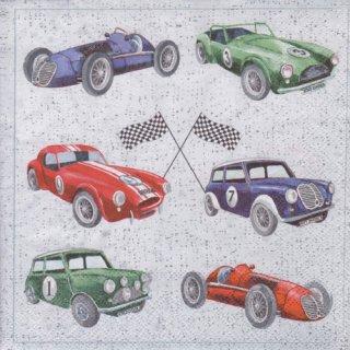 ペーパーナプキン(33)AMB:(5枚)CLASSIC CARS-AM602