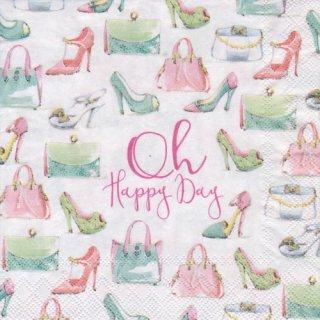 ペーパーナプキン(25)IHR:(5枚)OH,HAPPY DAY-IH112(25)