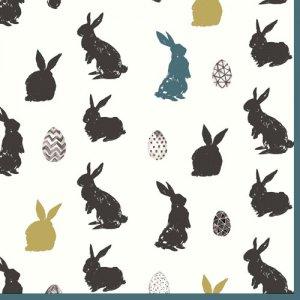 ペーパーナプキン(33)paper:(5枚)Bunny Craze-PA296