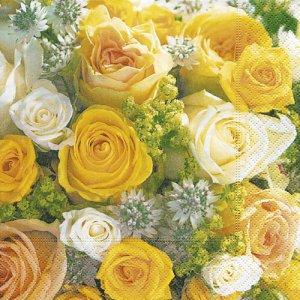 ペーパーナプキン(33)paper:(5枚)Bouquet of roses-PA210