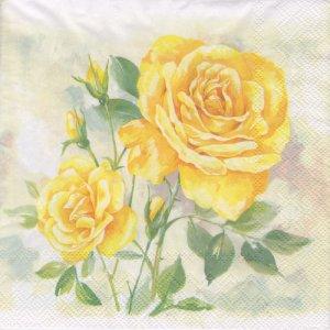 ペーパーナプキン(33)IHR:(5枚)ROSE BOUTIQUE yellow-IH379