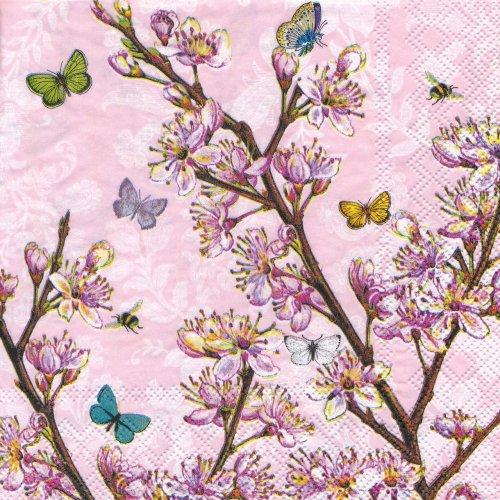 ペーパーナプキン(33)AMB:(5枚)Blossom Pink-AM609