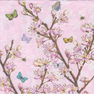 ペーパーナプキン(25)AMB:(5枚)Blossom Pink-AM61(25)