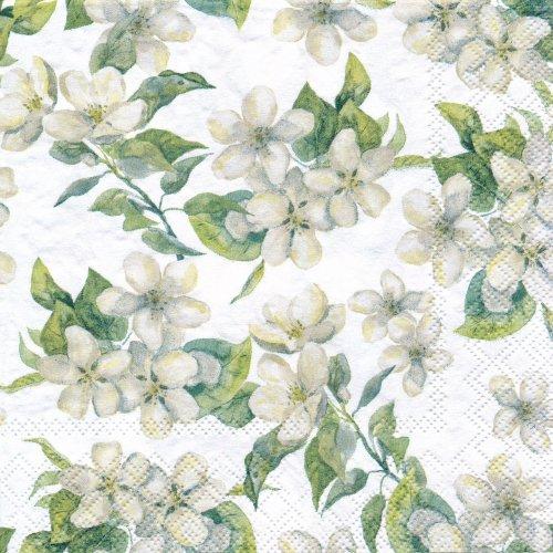 ペーパーナプキン(33)AMB:(5枚)Cherry Blossom grey-AM610