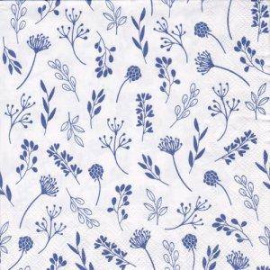 ペーパーナプキン(33)IHR:(5枚)TILDA ホワイト&ブルー-IH404
