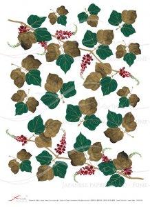 デコパージュ用ライスペーパー「FUNE」JSAR1034 陶絵 蔦の花