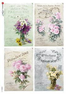 【A4】Paper Designs ライスペーパーFlOWERS_0319