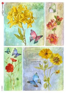 【A4】Paper Designs ライスペーパーFlOWERS_0323
