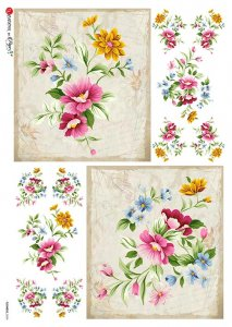 【A4】Paper Designs ライスペーパーFlOWERS_0324