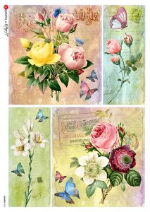 【A4】Paper Designs ライスペーパーFlOWERS_0325