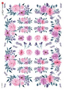 【A4】Paper Designs ライスペーパーFlOWERS_0338