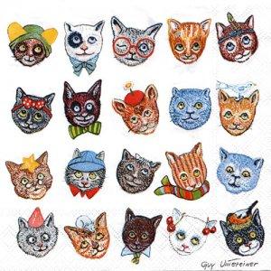 ペーパーナプキン(33)AMB:(5枚)FUNNY CATS-AM617