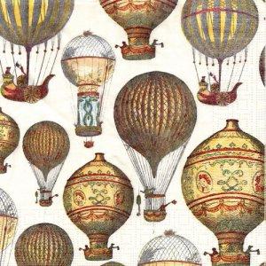 ペーパーナプキン(33)ppd:(5枚)気球-PP325
