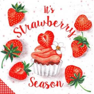 ペーパーナプキン(33)ppd:(5枚)Strawberry Season-PP334