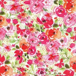ペーパーナプキン(33)ppd:(5枚)Rose Floral-PP336