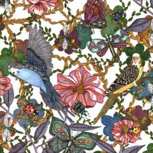 ペーパーナプキン(33)ppd:(5枚)Birds and Flowers-PP338