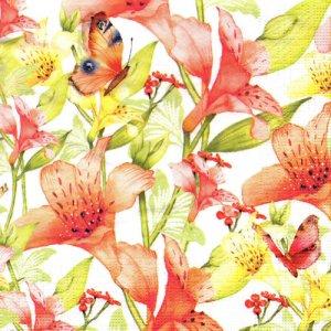 ペーパーナプキン(33)ppd:(5枚)Beautifull Lillie-PP340