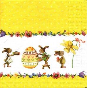 ペーパーナプキン(33)ppd:(5枚)Painting Easter Bunnies-PP173