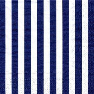 ペーパーナプキン(33)AMB:(5枚)STRIPES NAVY BLUE AM-528
