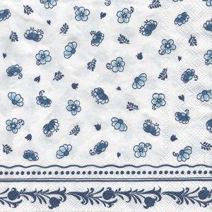 ペーパーナプキン(33)IHR:(5枚)LAURA white blue-IH419