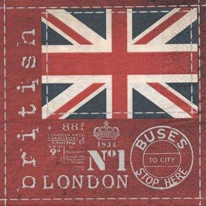 ペーパーナプキン(33)paper:(5枚)British flag-PA9