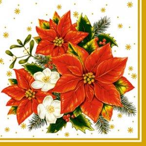 ペーパーナプキン(33)Maki:(5枚)Poinsettia white-MA132