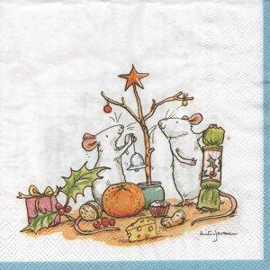 ペーパーナプキン(33)IHR:(5枚)LITTLE CHRISTMAS TREE-IH446