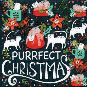 ペーパーナプキン(33)paper duni:(5枚)PURRFELT CHRISTMAS-PA312