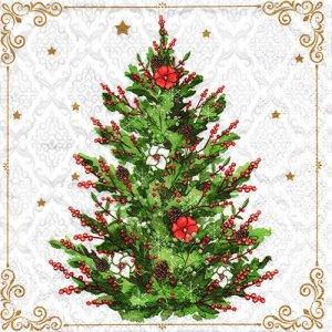 ペーパーナプキン(33)paper duni:(5枚)クリスマスツリー-PA314