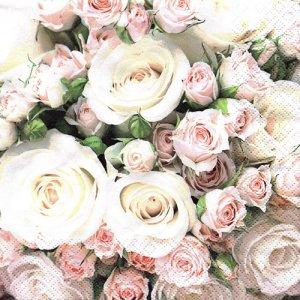 ペーパーナプキン(33)home:(5枚)Romantic Roses-HO227