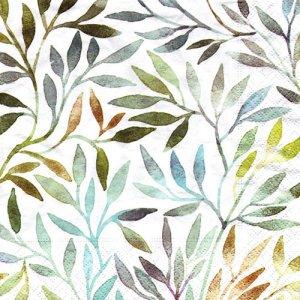 ペーパーナプキン(33)paper duni:(5枚)Willow leaves-PA317