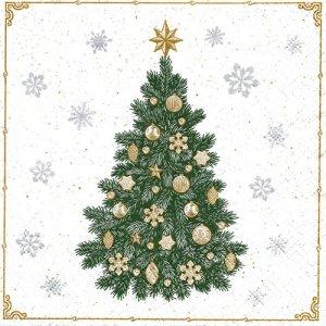 ペーパーナプキン(33)paw:(5枚)Frosty Tree-PW201